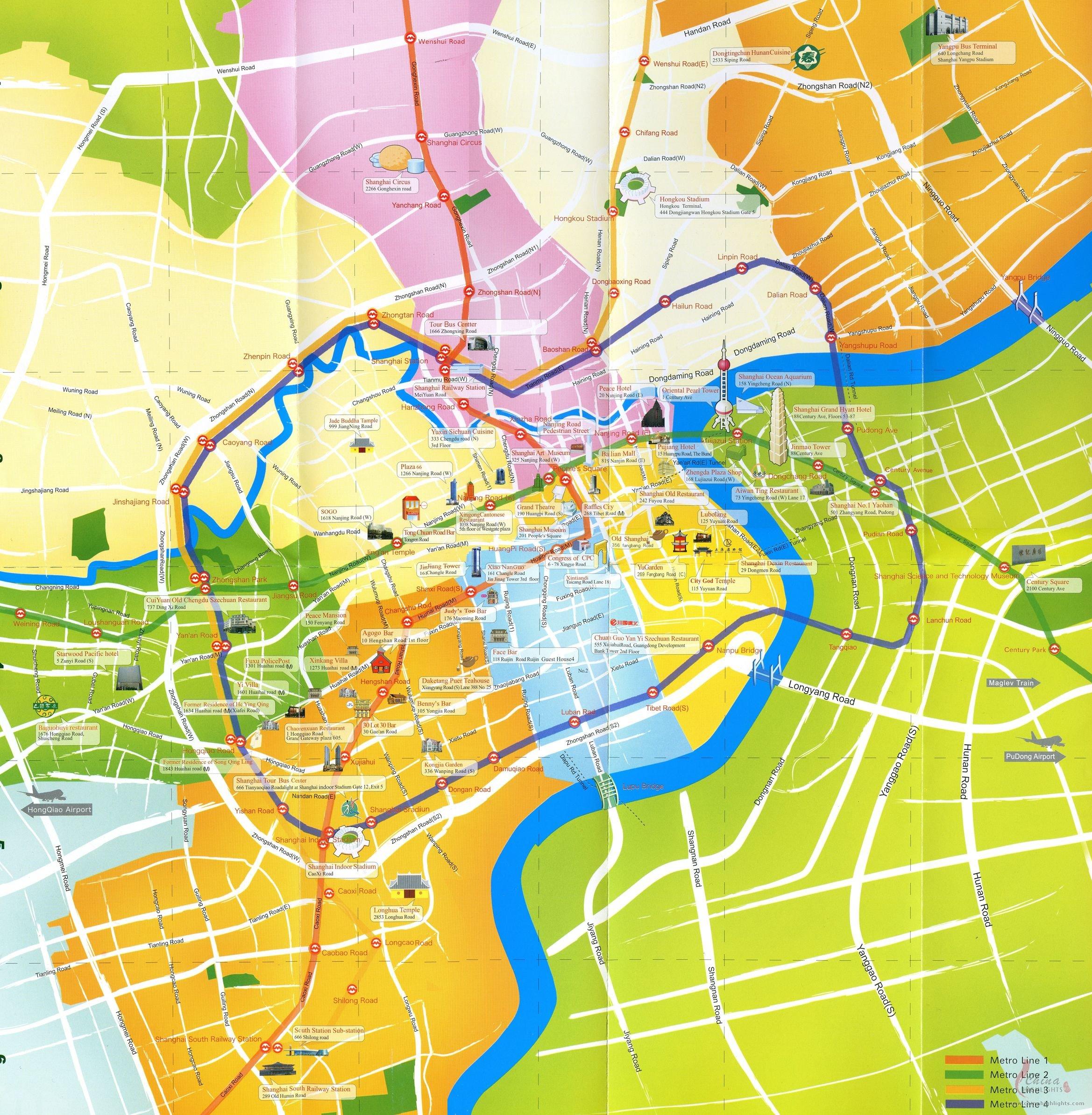 Subway Map Shanghai Tourist.Shanghai Map Shanghai City Map