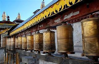 Prayer Wheels inTashilunpo Monastery