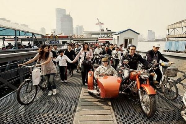 Vintage Side-car Drive in Shanghai