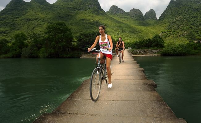 Cycling around Yangshuo