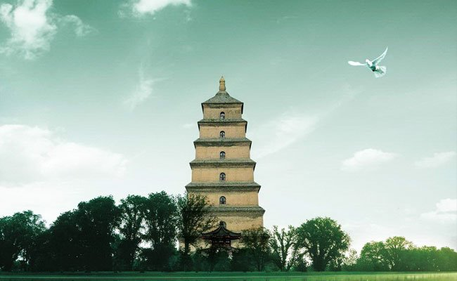 The Big Wild Goose Pagoda in Xian
