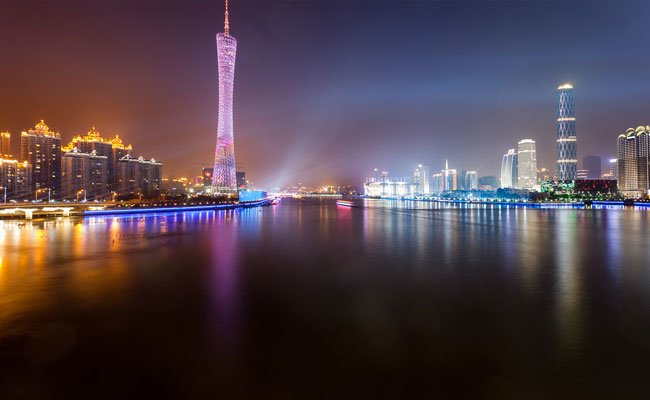 Guangzhou city by night