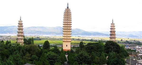 Three Pagodas in Dali