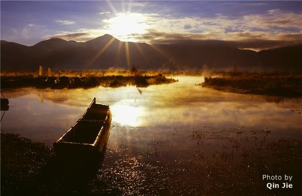 Lugu Lake at Sunset