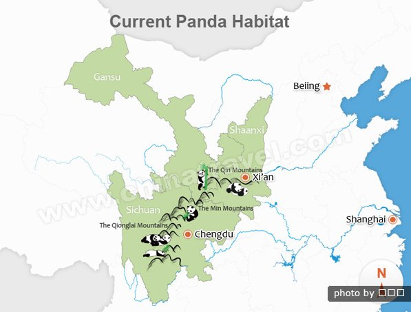 Red panda habitat map