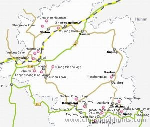 Kaili Tourist Map