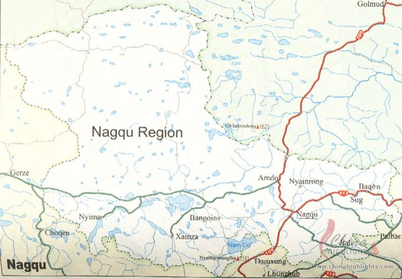 Nagqu Area Map