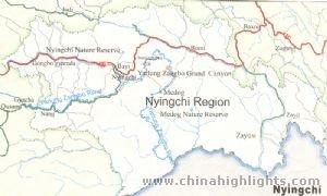 Nyingchi Regional Map