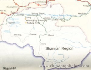 Shannan Regional Map