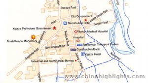 Shigatse Area Map