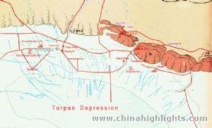 Turpan map