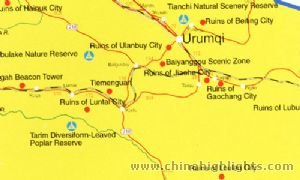 Urumqi Attractions Map