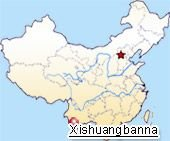 Xishuangbanna location map