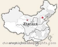 Zhangye Location in China