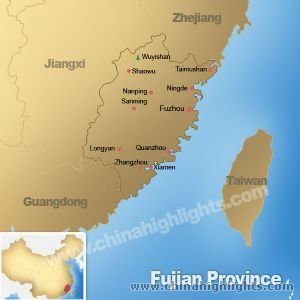 Map of Fujian