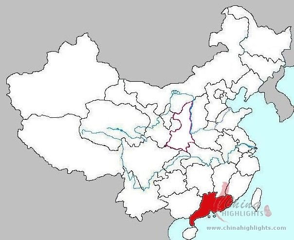 Guangdong Location in China