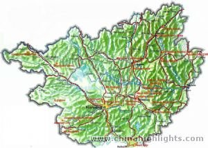 Guangxi Tourist Map