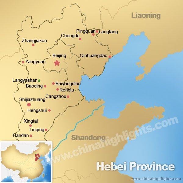 Map of Hebei
