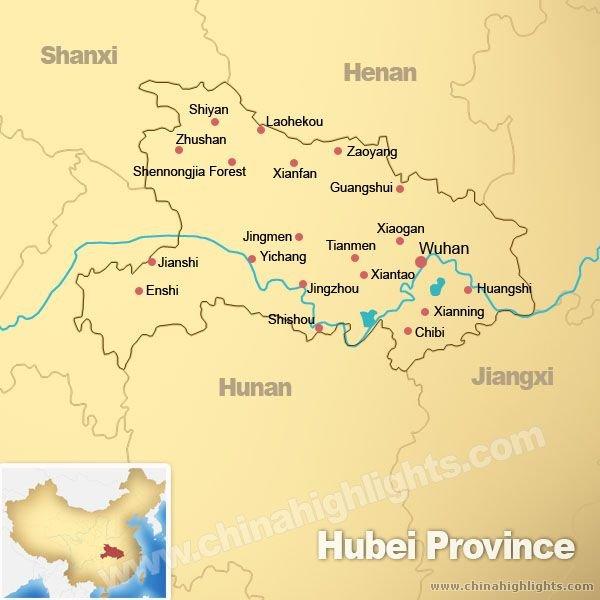 Map of Hubei