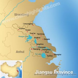 Map of Jiangsu