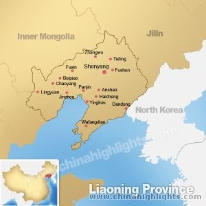 Map of Liaoning