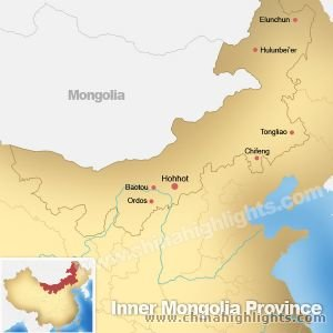 Map of Inner Mogonlia