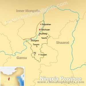 Map of Ningxia