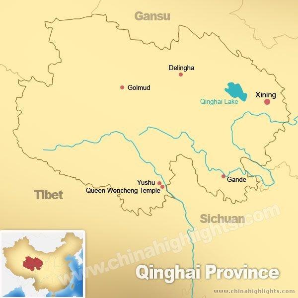 Map of Qinghai