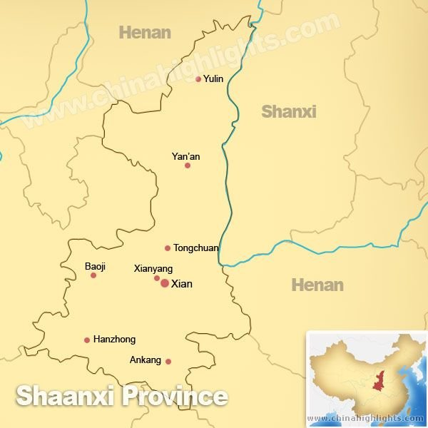 Map of Shaanxi