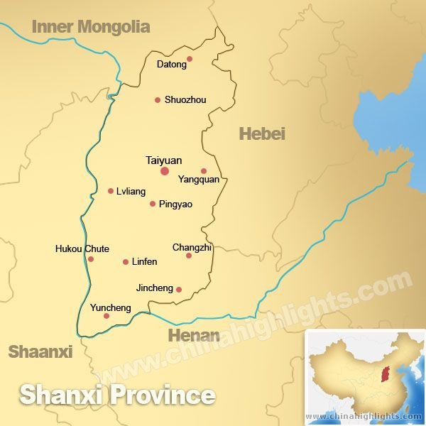 Map of Shanxi