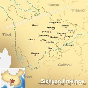 Map of Sichuan