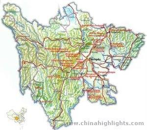 Sichuan Tourist Map