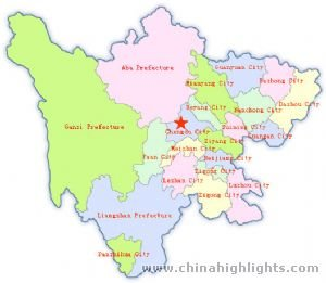 Sichuan Administrative Map