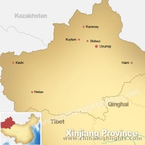 Map of Xinjiang