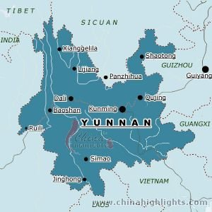 Map of Yunnan