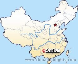 Anshun Location Map