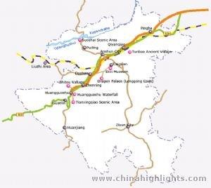 Anshun Map