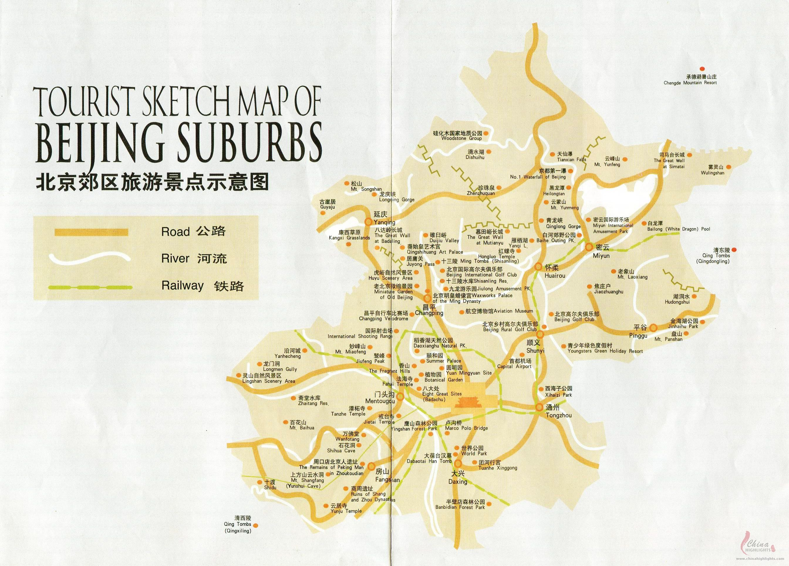 Map of Beijing Attractions