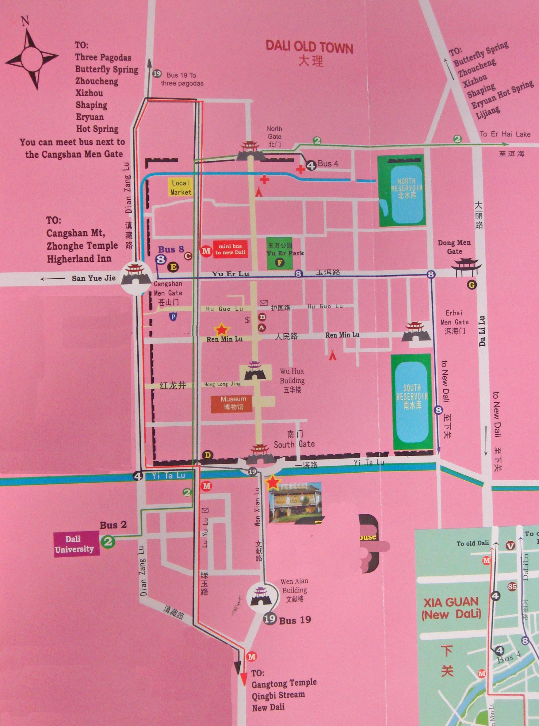 Dali Attraction Map