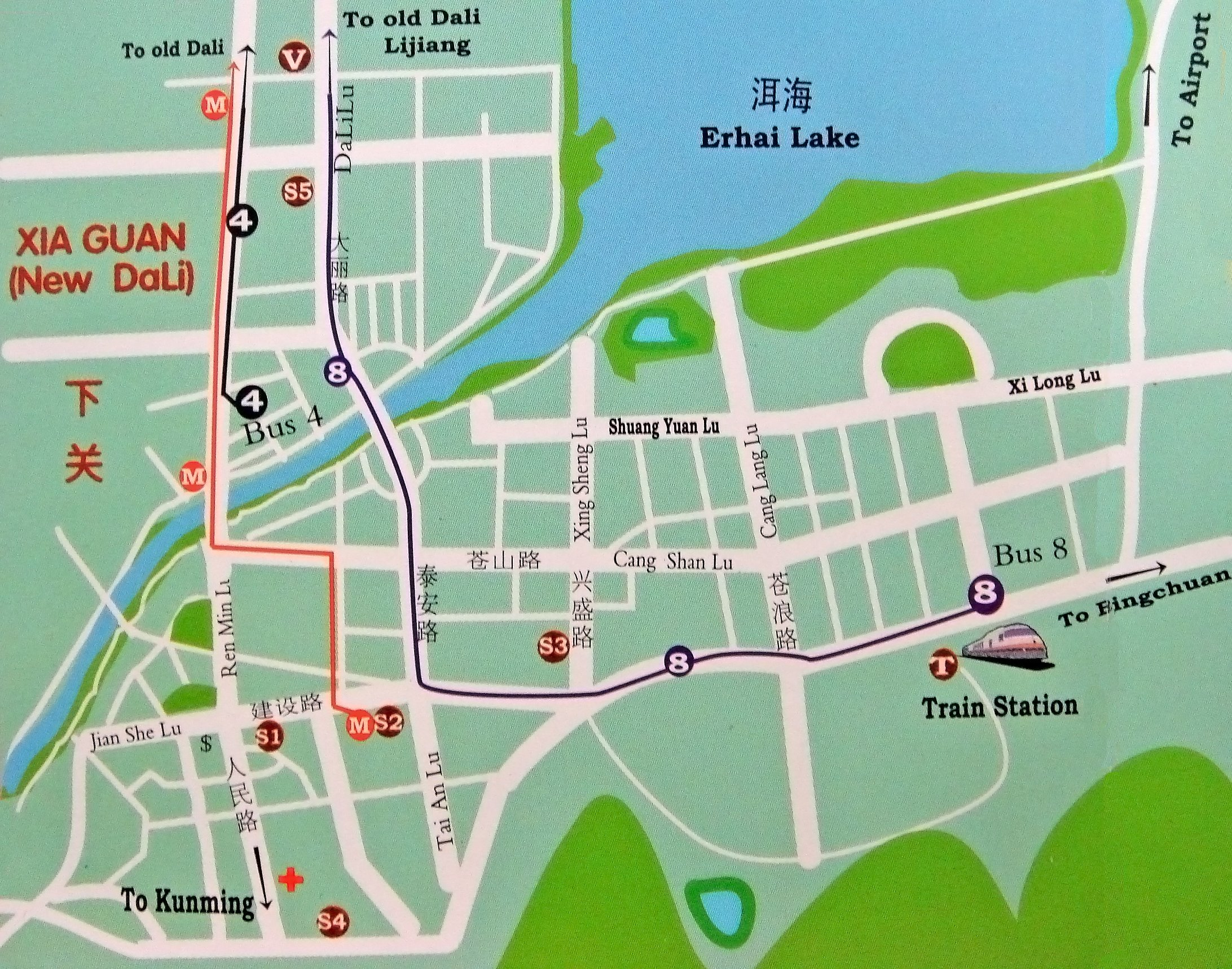 Dali Area Map