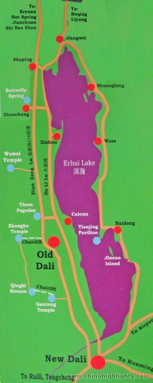 Dali Erhai Attraction map
