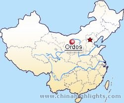 Erdos Location in China