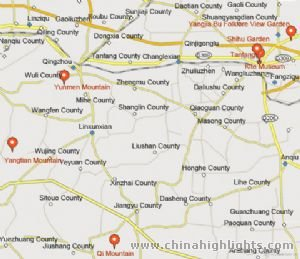 Weifang Tourist Map
