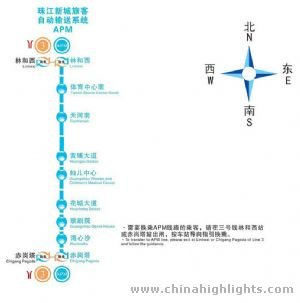 Guangzhou APM Route Map