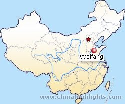 Weifang Location in China