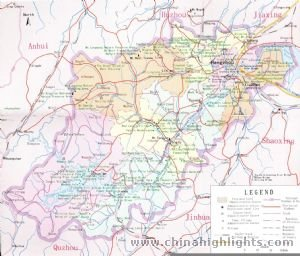 Hangzhou Area Map