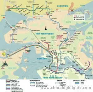 Hongkong Tourist Map