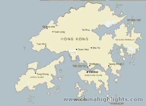 Hongkong Island Map
