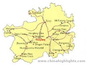 Guiyang Tourist Map