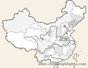Jinan Location in China